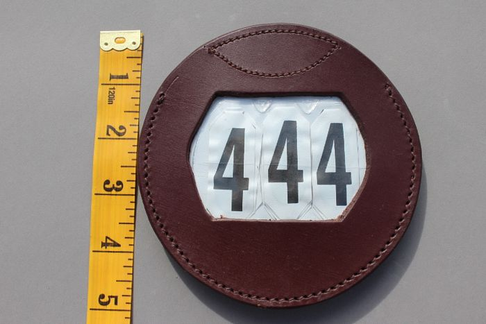 Luxe Leather Number Holder